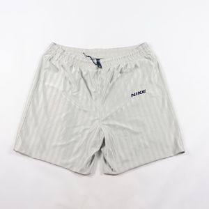 90s Nike Mens XL Striped Basketball Shorts Silver